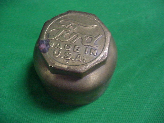 1920s Ford Model T Brass Grease Hub Cap Dust Cover