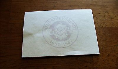 Genuine 1987 Oldsmobile 90th Anniversary Notepad- 1897-1987,