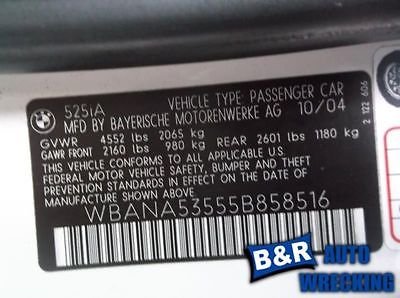 04 05 BMW 525I ENGINE ECM ELECTRONIC CONTROL MODULE AT 8789527 590-60733B 8789527