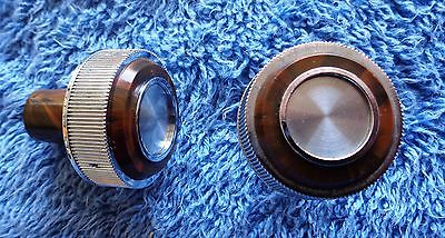 NICE Original OEM 73-77 Cutlass Models Wood Grain Outer Radio Knob Set Chrome