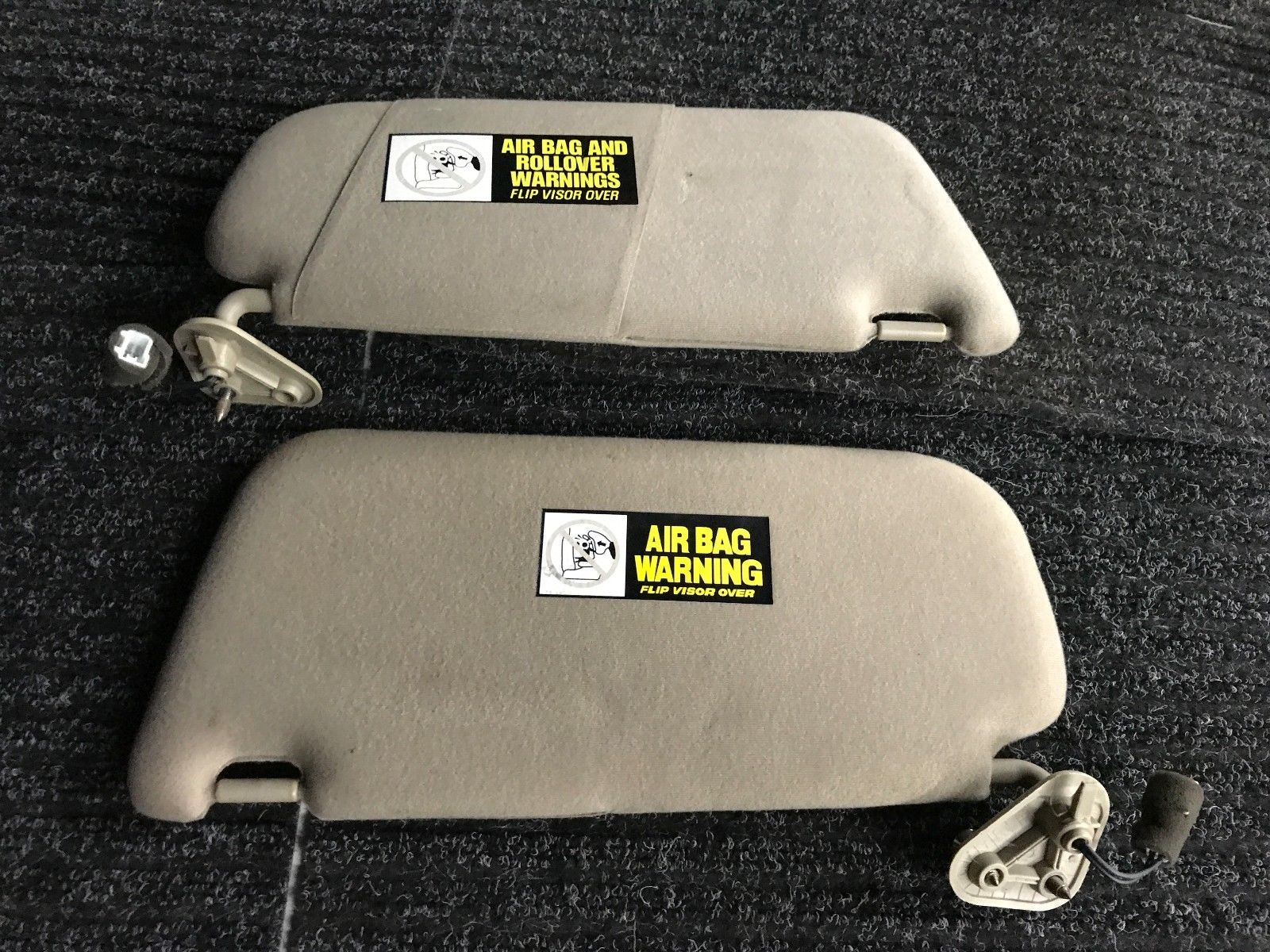 HYUNDAI SANTA FE LIGHTED SUN VISOR SET Tan Driver Passenger Shade Pair Set Brown Hyundai 29