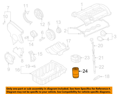 AUDI OEM 93-95 90 Engine-<em>Oil</em> <em>Filter</em> 06A115561B