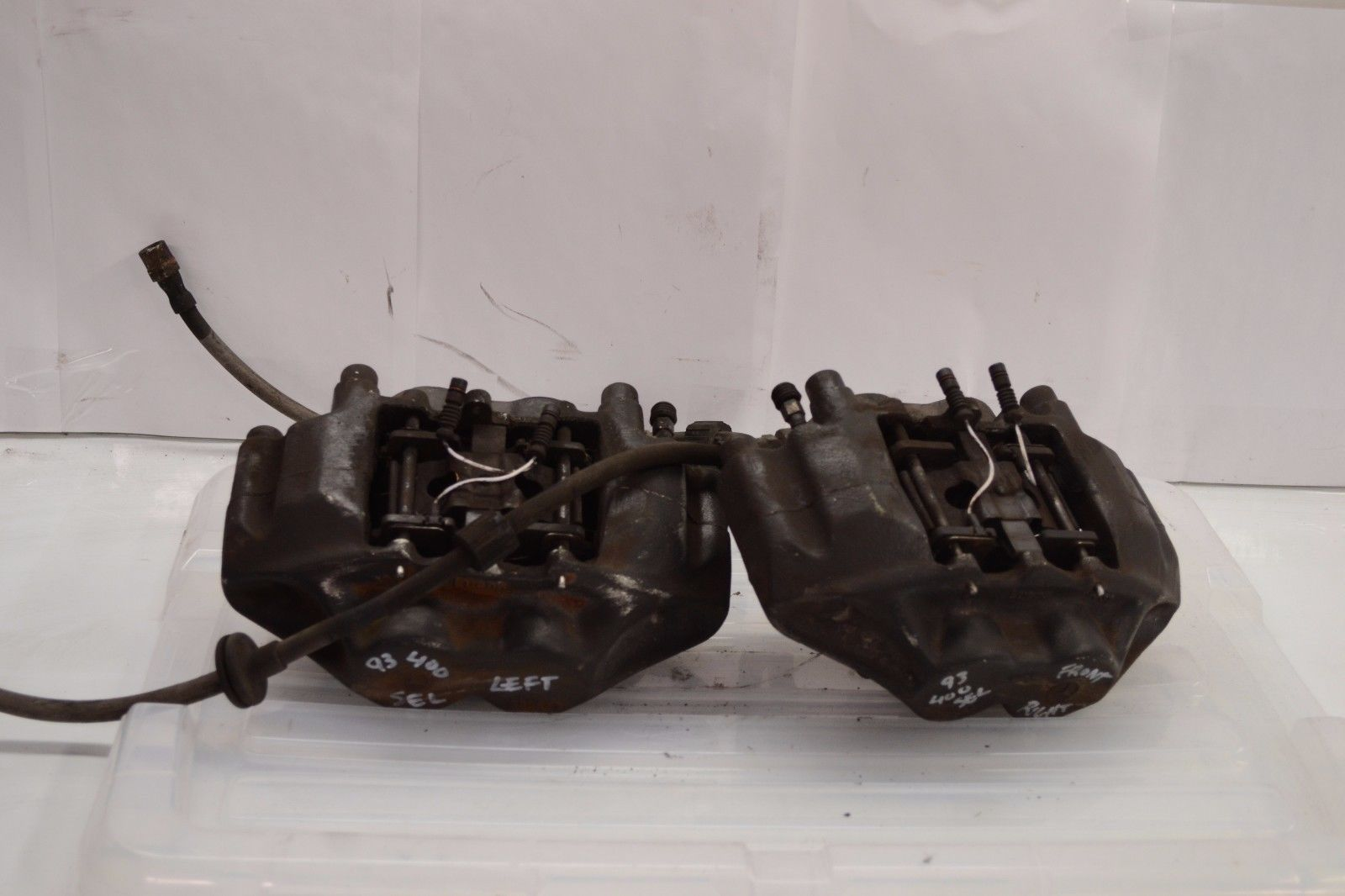 1992-1999 MERCEDES W140 400SEL S420 S500 FRONT RIGHT & LEFT BRAKE CALIPERS PAIR