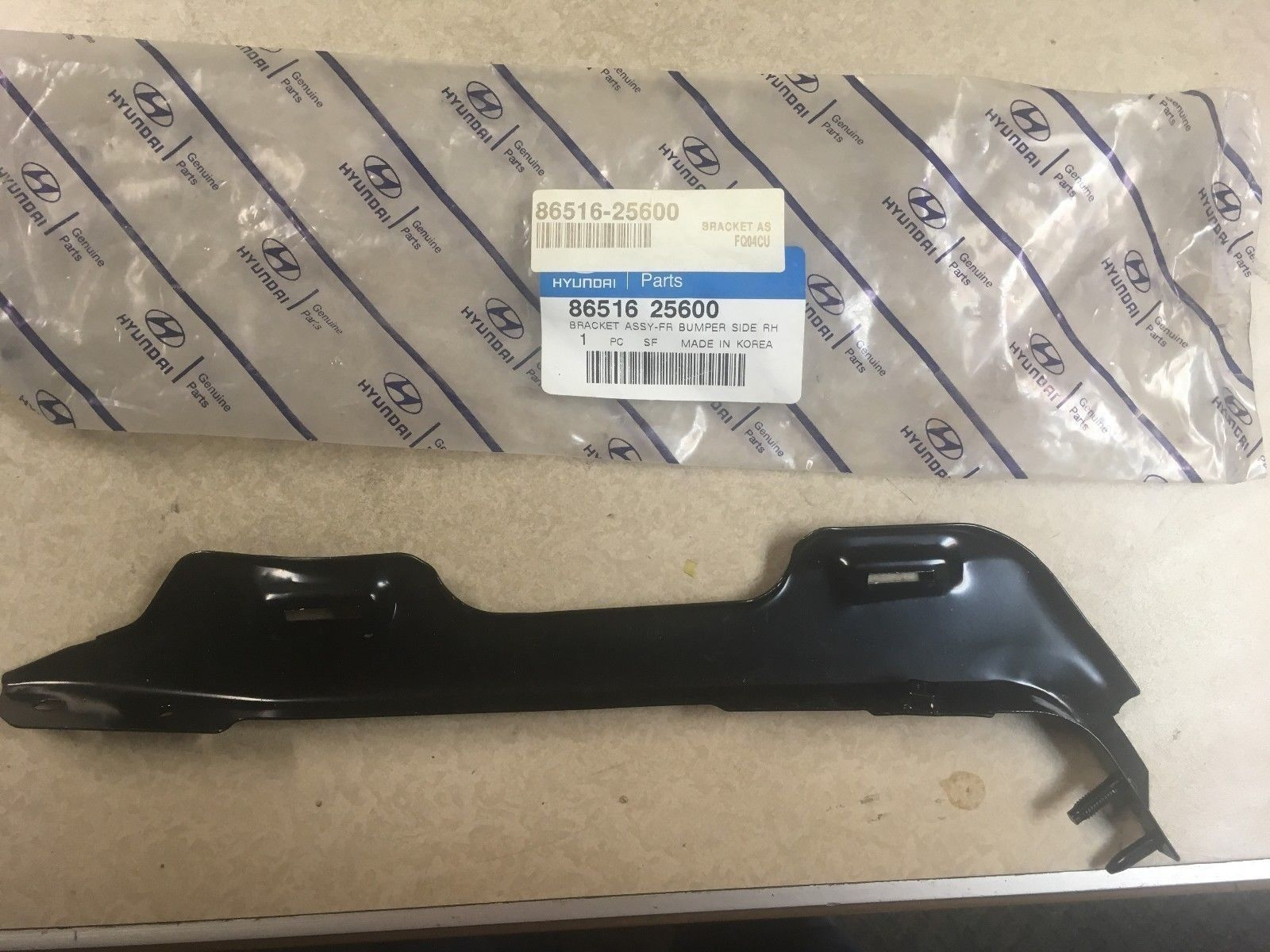 NEW OEM 1996-2002 HYUNDAI ACCENT Bracket Assembly-Front Bumper RH 8651625600 86516-25600