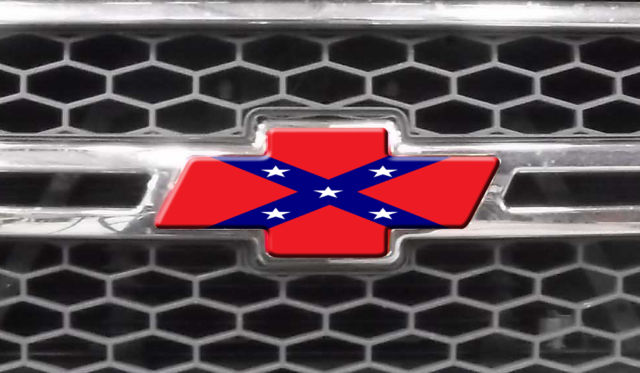 chevy bowtie decal rebel flag die cut covers silverado. Black Bedroom Furniture Sets. Home Design Ideas