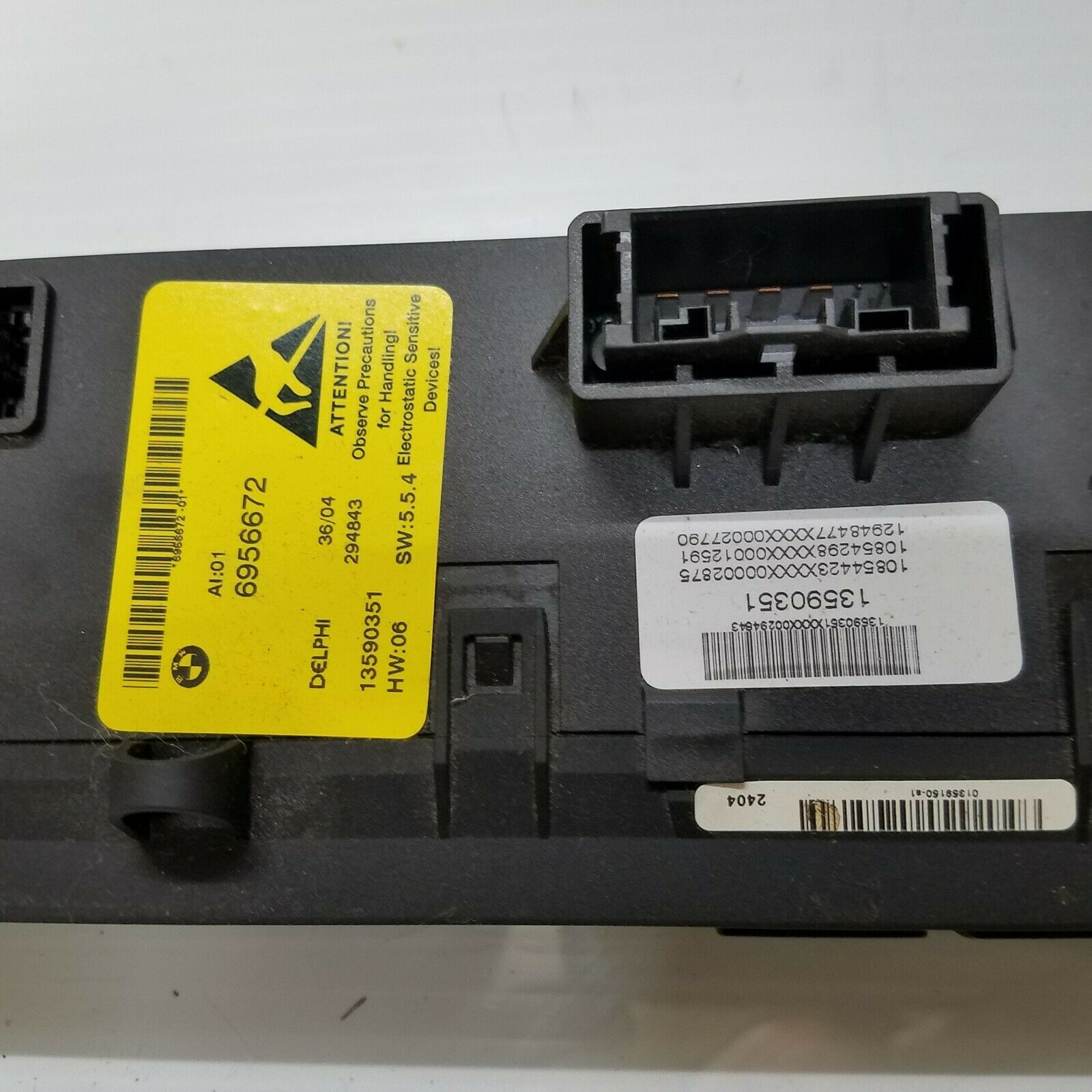 2004-2007 BMW 645Ci 650i FRONT DASH HEATED SEAT DTC PDC CONTROL SWITCH 6956672 Does not apply E63BM2