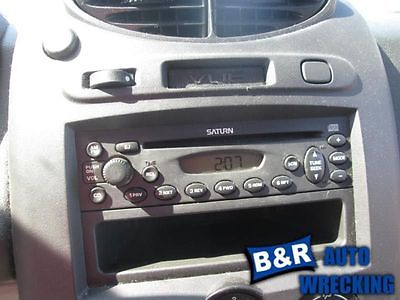 05 SATURN ION AUDIO EQUIPMENT AM-FM-CD PLAYER W/O MP3 OPT U1C 7526136 7526136