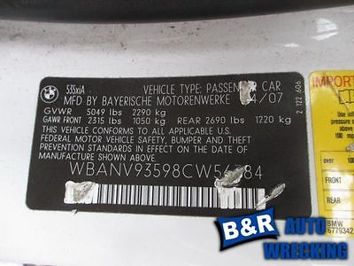 04 05 06 07 BMW 530I CROSSMEMBER/K-FRAME REAR 9151821 477-59501 9151821