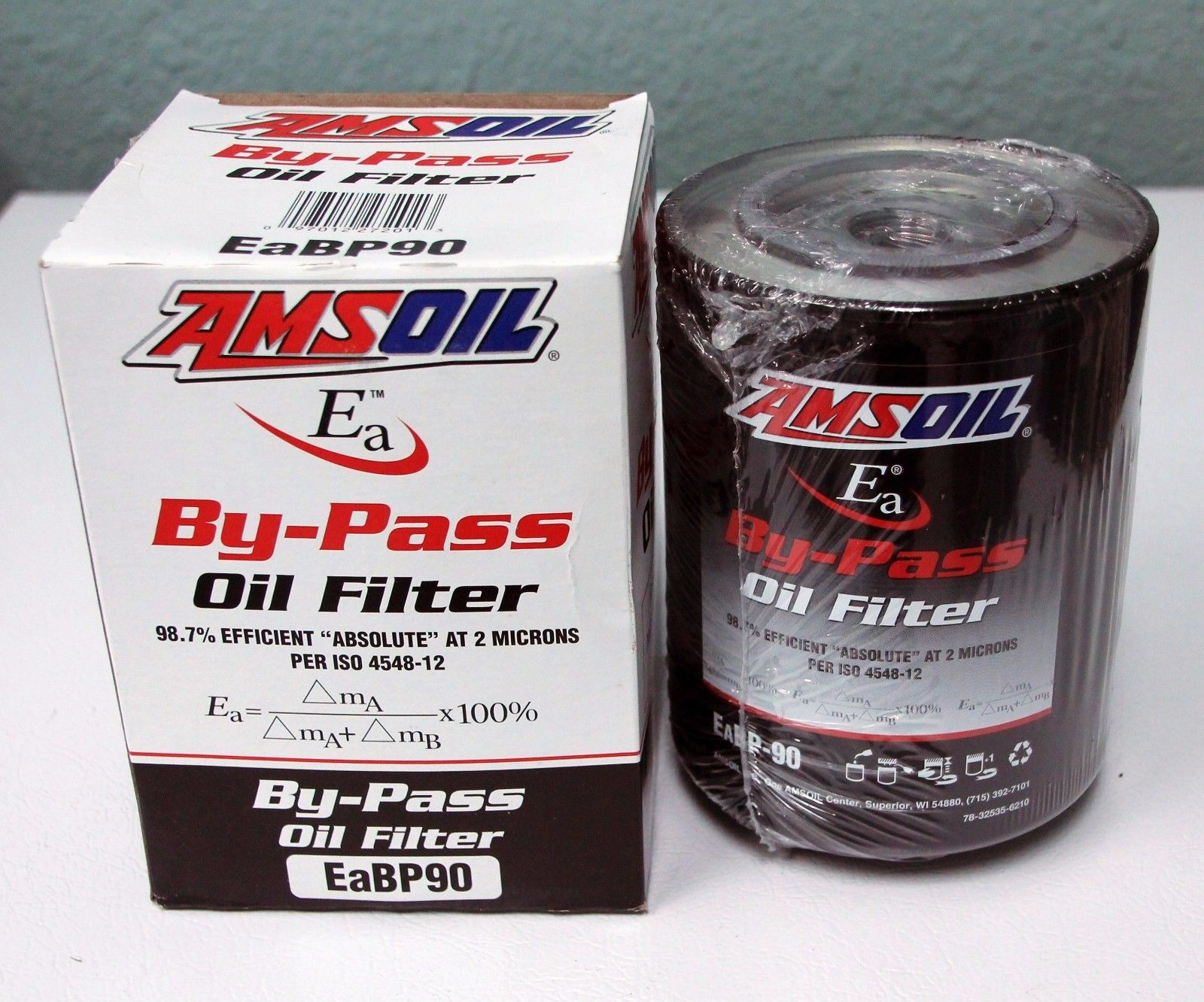 AMSOIL EaBP-90 bypass oil filter (3 PACK) replaces BE-90, BE-100, BE-110 097012272013