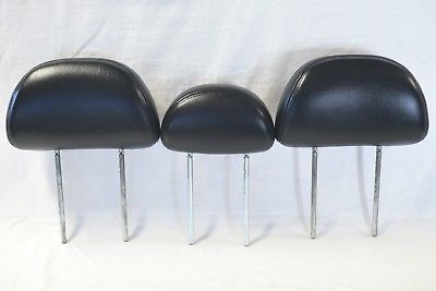 01-07 <em>FORD</em> <em>ESCAPE</em> MARINER TRIBUTE SET OF 3 REAR ROW HEADRESTS BLK Leather