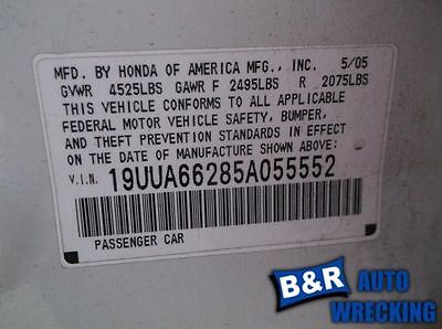 05 ACURA TL ENGINE ECM ELECTRONIC CONTROL MODULE LOWER CENTER DASH 3.2L AT 8197875