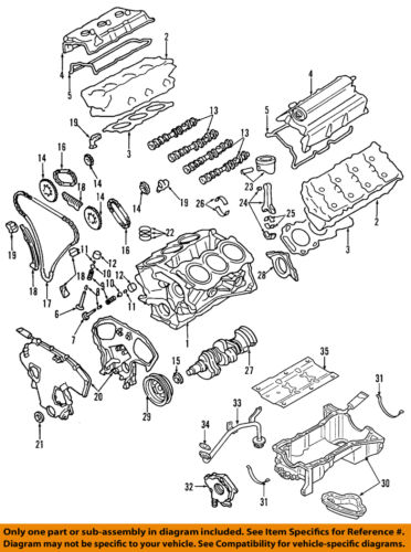 Genuine Nissan 13264-7Y010 Valve Cover Assembly