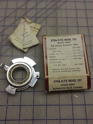 1961 1962 1963 Chrysler Single Point Ball Bearing DISTRIBUTOR PLATE See details