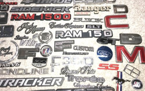 Huge Lot of Choice, Rare Import & Domestic Auto Car & Truck Emblems Does Not Apply LOTS-1-1-1