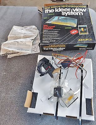 Vintage Aftermarket Rear Window Defroster Defogger Clearview System By Audiovox Does Not Ly
