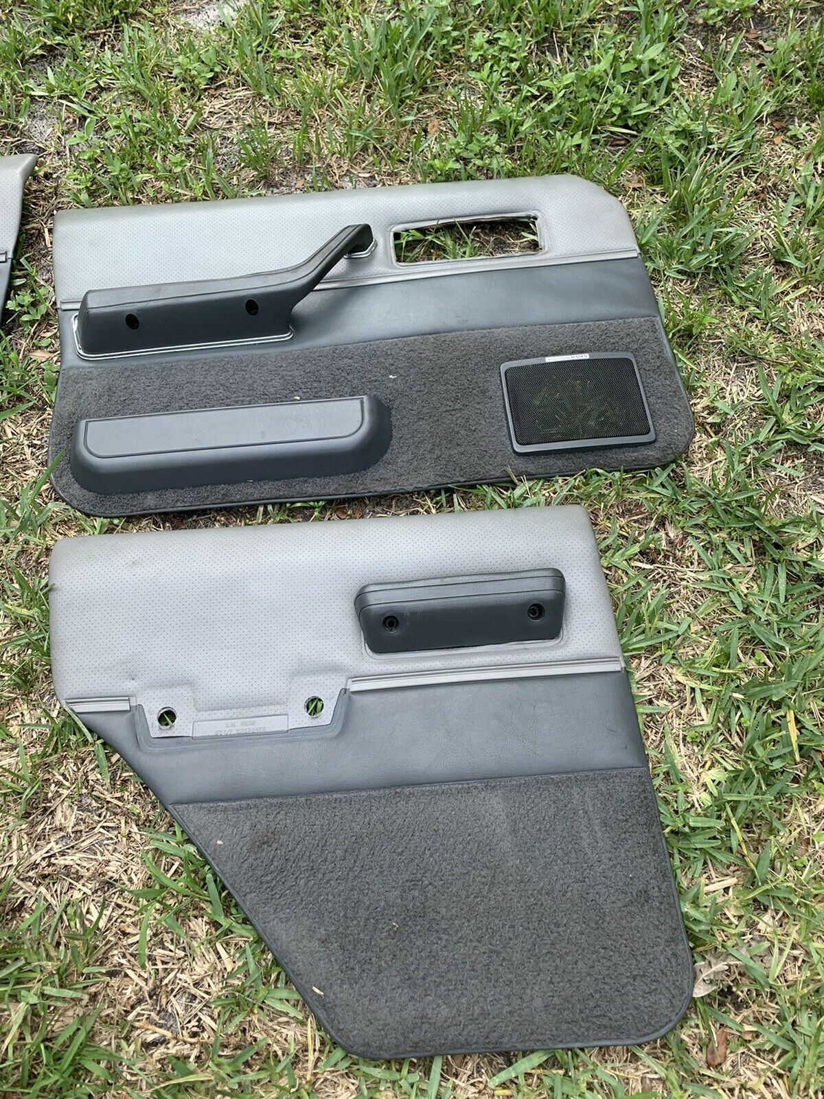 84-96 JEEP CHEROKEE XJ LIMITED DOOR PANELS CARDS FRONT REAR GRAY LOCAL P/UP doorcards