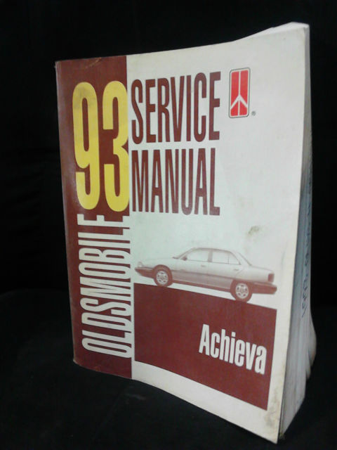 1993 Oldsmobile Service Manual Good Condition