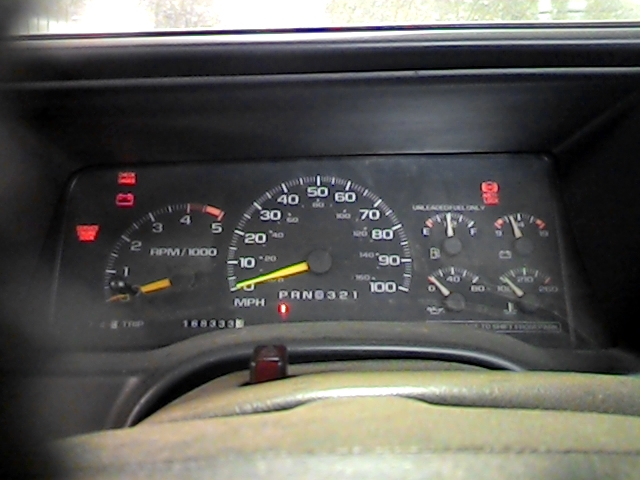 1995 Chevy 1500 Pickup Speedometer Instrument Cluster