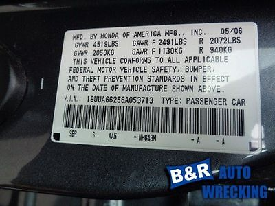 06 ACURA TL ENGINE ECM ELECTRONIC CONTROL MODULE LOWER CENTER DASH 3.2L AT 8010369
