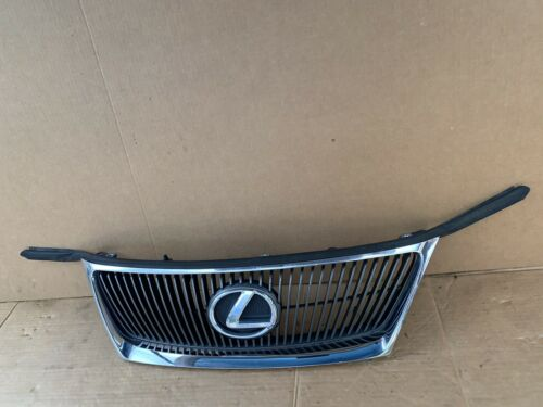 06 07 08 Lexus IS250 IS350 Front UPPER Radiator Grille Grill Chrome w Emblem OEM