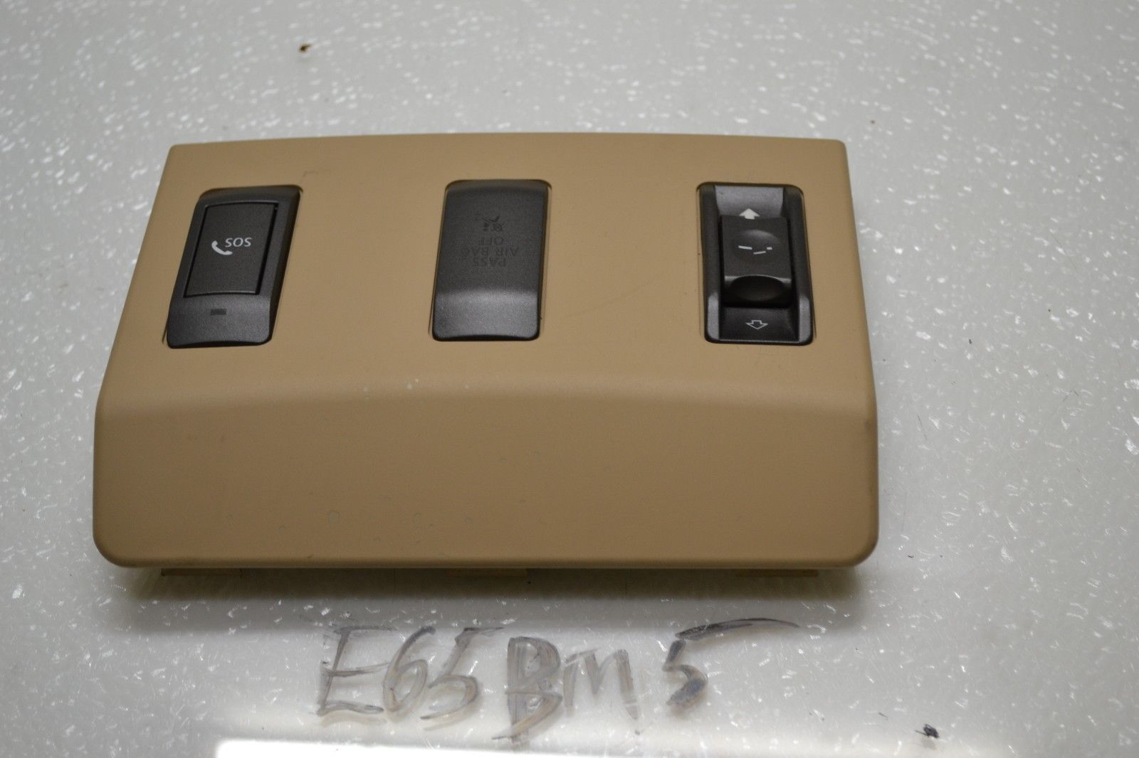 2006-2008 BMW 750Li 750i SUNROOF SWITCH BUTTON SOS AIR BAG TRIM COVER PANEL Does not apply