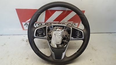 2017 HONDA CIVIC 1.5L STEERING WHEEL BLACK OEM