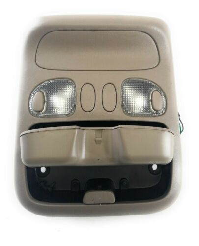 2005-2006 Toyota Tundra Crew Cab Overhead Console Dome Light Tan 05 06 OEM Does Not Apply