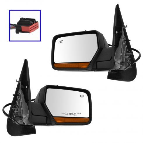 Set of 2 LH & RH Side Heated Power Mirror Fits Ford Expedition Lincoln Navigator FO1320377