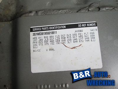 06 07 08 09 10 11 IMPALA ALTERNATOR 3.9L 125 AMP OPT KG7 8209059 601-00121B 8209059