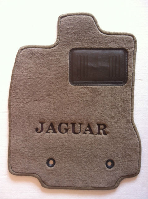 Jaguar X-Type 4pc Custom Beige Floor Mats OEM(Spec.) w ...