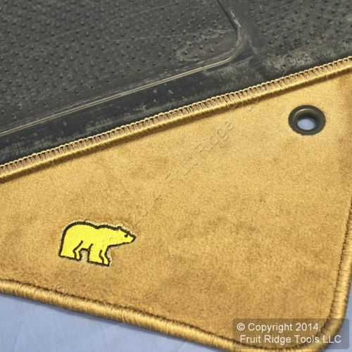 New Oem Front Floor Mats Jack Niklaus Golden Bear Emblem 92 03