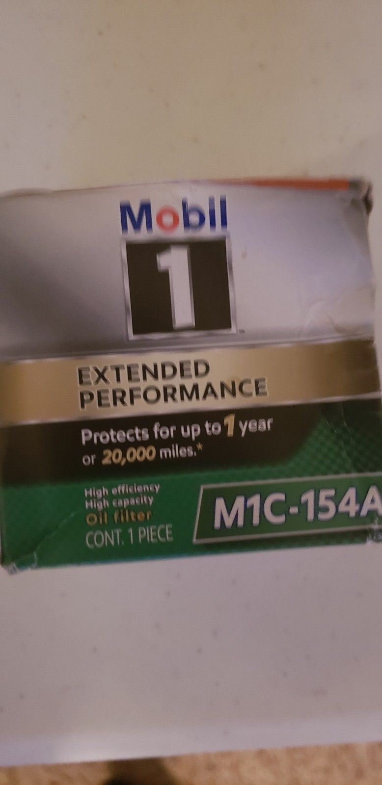 Engine Oil Filter Mobil 1 M1C-154A Does not apply