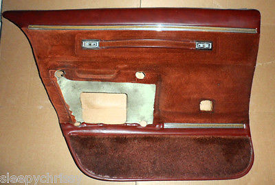 1982 Chevrolet Caprice Classic Drivers Side Door Panels - FRONT & BACK Brown GM