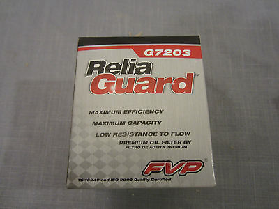 FVP G7203 ReliaGuard Oil Filter CH9641 57203 M960 P960 Mazda Ford