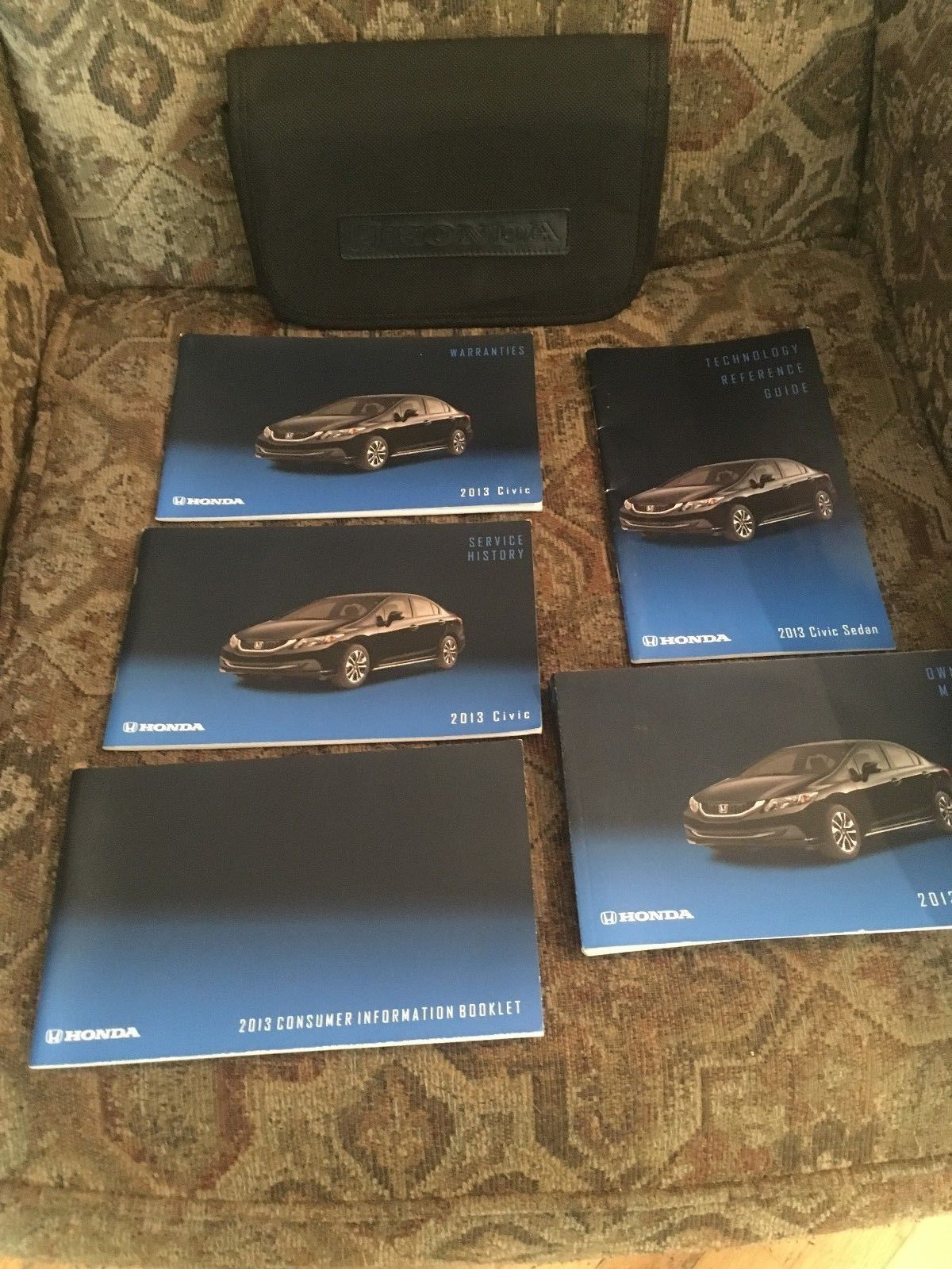 2013 HONDA CIVIC SEDAN OWNERS MANUAL IN ORIGINAL CASE