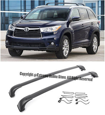 For 14 16 Toyota Highlander Xle Black Roof Rack Cross Bar Top Luggage Carrier 2017