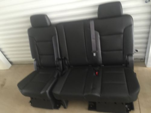 2007 2014 Oem Tahoe Yukon 2nd Row Seats Black 60 40