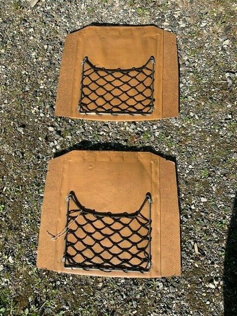 Mercedes W116 Seat Backrest insert with netting brown leather