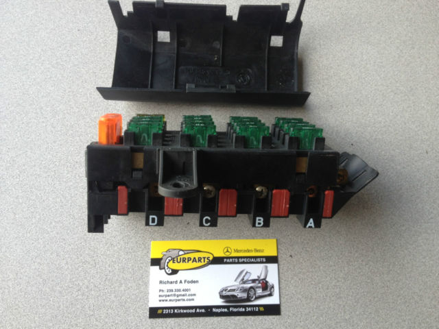 95 99 mercedes w140 s320 s420 s500 trunk rear fuse box 1405451701 1405451701