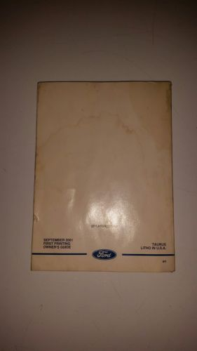 2002 Ford Taurud Owners Manual With Case Original