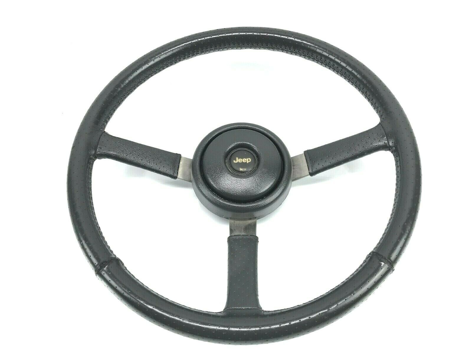 1988-1995 Jeep Wrangler YJ Logo Steering <em>Wheel</em> Horn Button <em>Cap</em> OEM