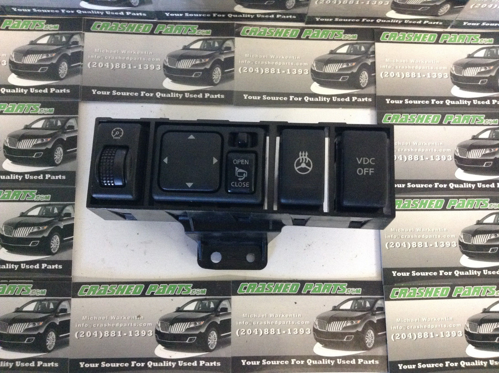 Nissan Maxima Dimmer Mirror VDC Switch Unit
