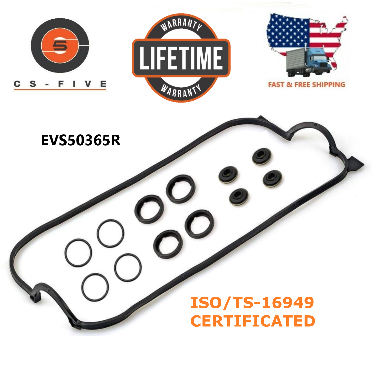 LIFETIME Warranty Valve Cover Gasket Fits 1990 - 1998 HONDA ACCORD 2.2L F22B2 VS50365R VS50365R