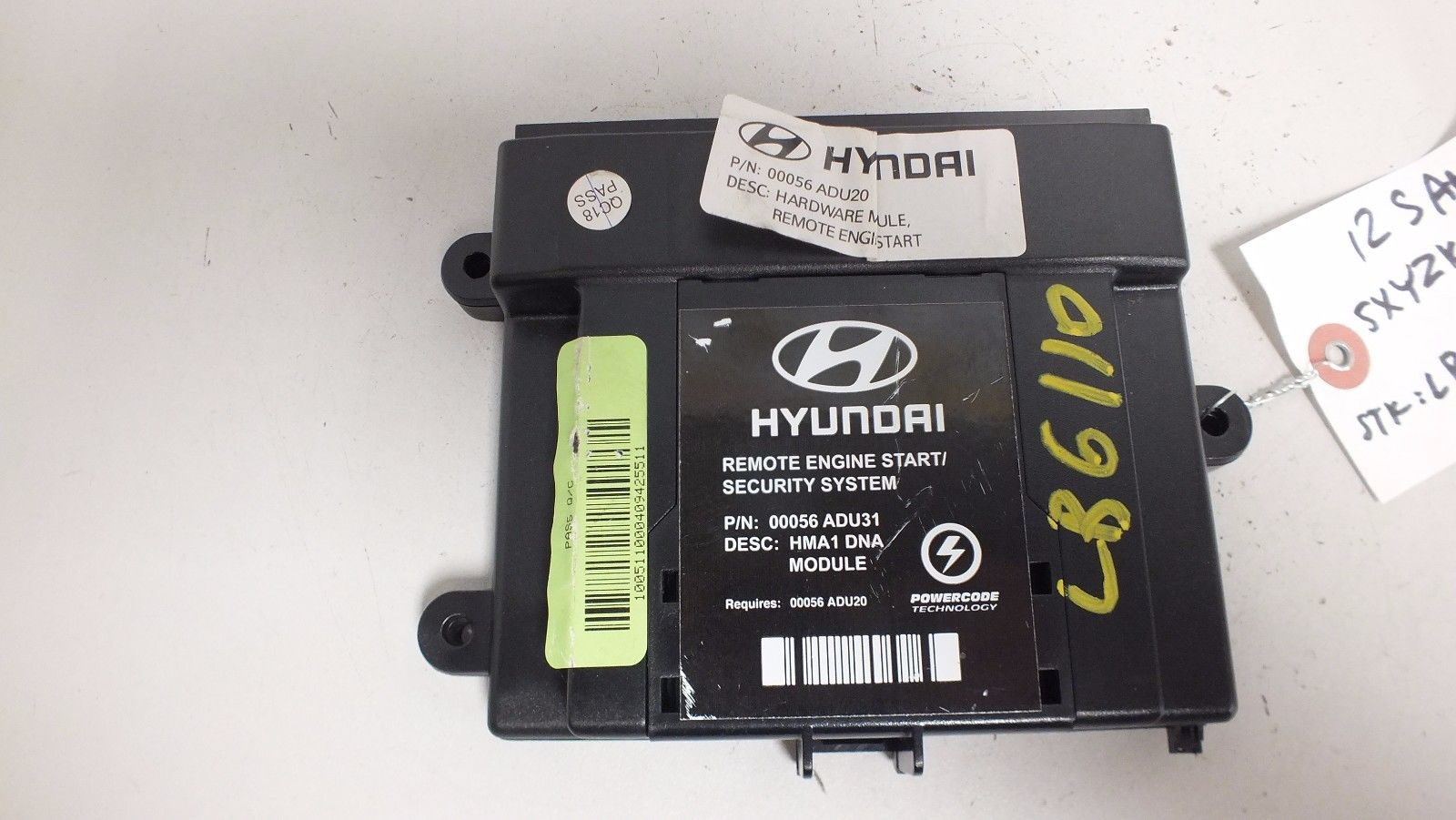 12 2012 hyundai santa fe remote start control module 00056 adu31 1019 00056 adu31. Black Bedroom Furniture Sets. Home Design Ideas