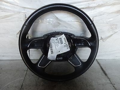 2014 AUDI A4 STEERING WHEEL BLACK LEATHER OEM CONTROLS