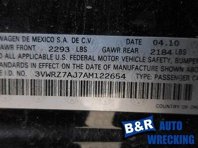 05 06 07 08 09 10 11 12 13 14 VW JETTA STARTER MOTOR SDN 2.5L AT 8240532 8240532