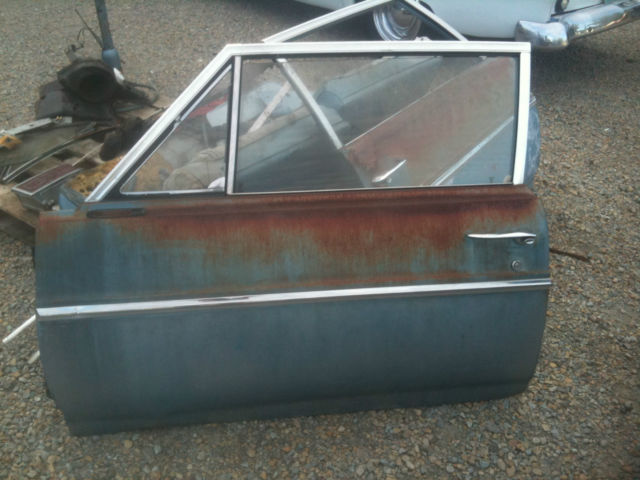 1965 Buick Skylark LH Driver Door Shell Skin 2 Door Post Sedan