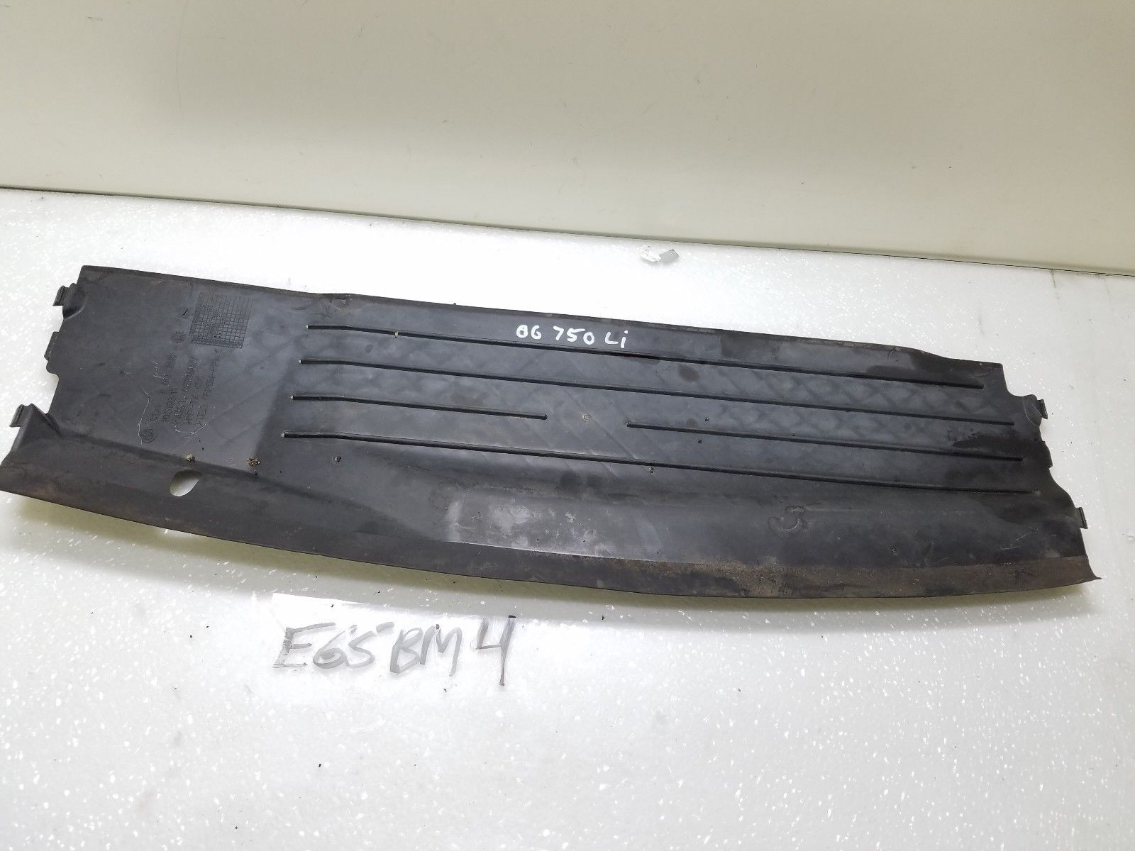 2006-2008 BMW 750i 750Li LOWER RADIATOR SUPPORT PANEL COVER 51717011218 OEM Does not apply