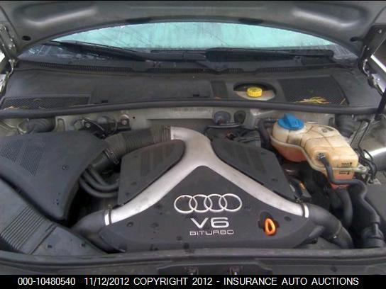 00 01 02 03 04 AUDI A6 S4 2.7L TWIN TURBO V6 ENGINE MOTOR