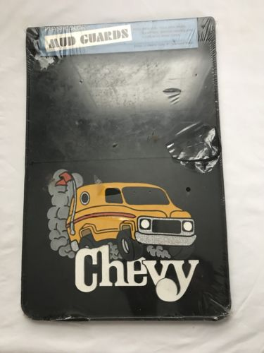 Vintage Chevy Mud Flaps Mud Guards 1980's C10 C20 Van NOS Does Not Apply